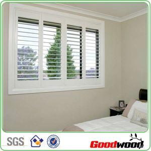 Inside Mounted Faux Wood Shutter Window for Bedrooms