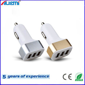 Ce RoHS Portable 3USB Car Charger