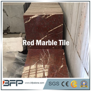 Chinese Rojo Alicante Red Marble 10mm Thick Tile for Home Decor, Wall, Flooring DIY Install pictures & photos