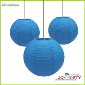 Deep Blue Round Paper Lantern