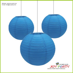 Deep Blue Round Paper Lantern pictures & photos