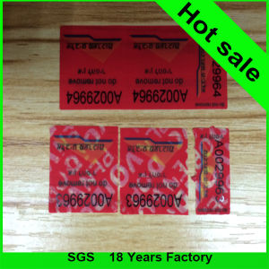 Made in China Void Open Security Sealing Tape, Security Sealer pictures & photos