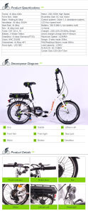 Good Looking Folding E-Bike pictures & photos