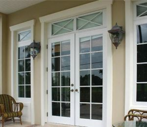 Exterior Double Entry Aluminum French Doors pictures & photos