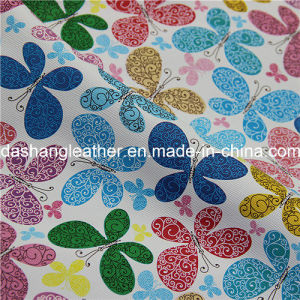 Flower Printed Artificial PVC Leather for Furniture pictures & photos