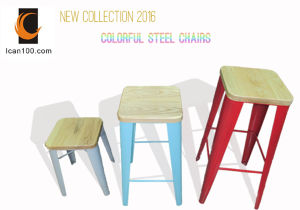 Wholesale Supplies Taburete Tolix Wood Style Timber Stool (DC-05006) pictures & photos