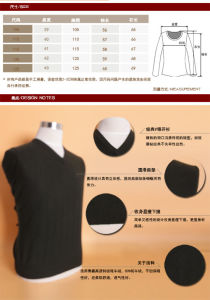 Yak Wool /Cashmere V Neck Pullover Long Sleeve Sweater/Clothing/Garment/Knitwear pictures & photos