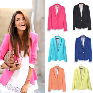 Hight Quality Slimming Leisure Outwear Women Suits (MU6626-1) pictures & photos