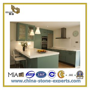 Polished White Artificial Quartz Stone for Countertops (YQC) pictures & photos