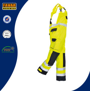 En471 High Vis Cotton Safety Workwear Overall Bib Brace pictures & photos