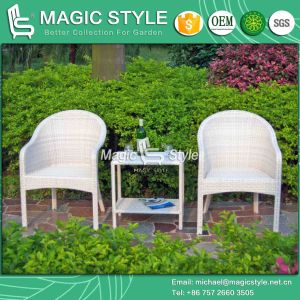 Patio Coffee Set Balcony Wicker Dining Chair Rattan Dining Chair (Magic Style) pictures & photos