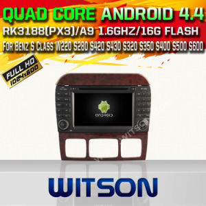 Witson Android 4.4 Car DVD for Mercedes-Benz S Class with Chipset 1080P 8g ROM WiFi 3G Internet DVR Support (W2-A6518) pictures & photos