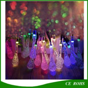 20/30 LED Solar Powered Water Drop String Lights LED Fairy Light for Wedding Christmas Party Festival Outdoor Indoor Decoration pictures & photos