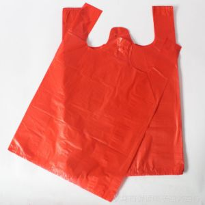 T-Shirt Bag Without Printing / Plastic T-Shirt Bag pictures & photos
