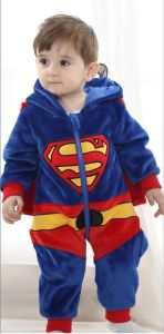 Baby Clothes, 100% Polyester Fleece Shaped Romper / Superman pictures & photos