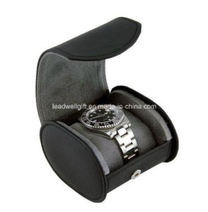 Women′s Leatherette Cylinder Watch Box Jewelry Case Organize pictures & photos