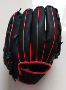 Professional Customized Black Baseball Glove (05) pictures & photos