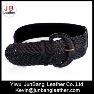 Best Selling Ladies PU Braid Elastic Belt