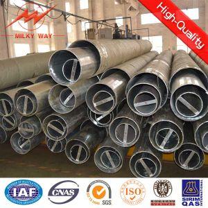 Bitumen Galvanized Electric Steel Pole pictures & photos