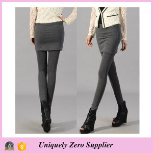 Fast Delivery Fashion Women Black Cotton Skirt Leggings (SR8202) pictures & photos