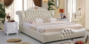 2016 Latest Luxury Priness Leather Bed 26#