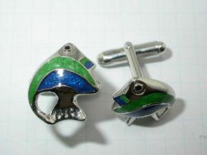 Delicate Fish Silver Metal Jewelry Cufflink