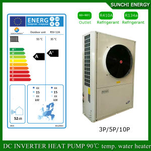 Amb. -25c Winter Floor House Heating 12kw/19kw/35kw High Cop Heat Recovery Ventilation System with Heat Pump Evi pictures & photos