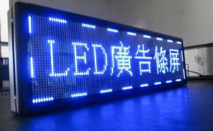 P10 Blue Color LED Display pictures & photos