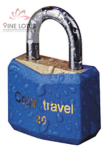 High Quality Plastic Coated / Blue Plastic Cover Brass Padlock pictures & photos