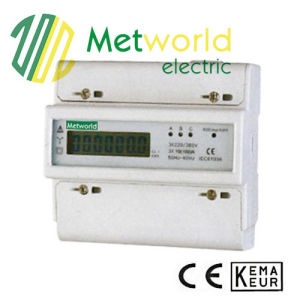 Three-Phase Seven Module DIN-Rail Electronic Energy Meter pictures & photos