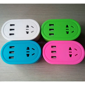 2 Way USB Charger Winding Wire Power Strip Electric Extension Socket pictures & photos