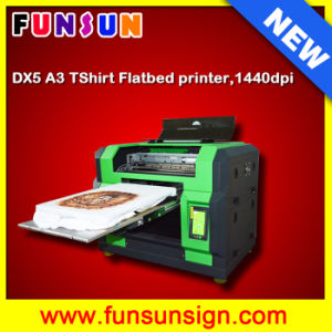 DTG Multifunction Flatbed Printer--Online Selling A3 Size 8 Color Economical Flatbed Cheap T-Shirt Printer Direct pictures & photos