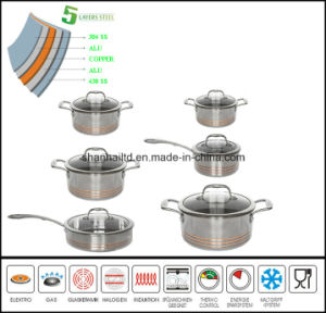 5 Ply Waterless Cookware Set Kitchen Ware pictures & photos