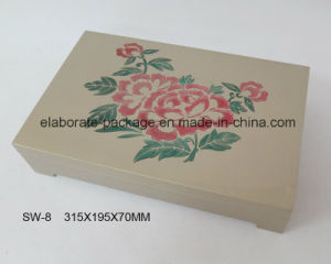 Painting Flower Jewellry Box Handmade Wooden Gift Box pictures & photos
