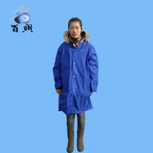 Full Length EVA Raincoats with Hood pictures & photos