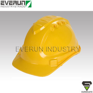 ER9107 CE EN397 Construction helmet Hard cap PE safety helmet pictures & photos