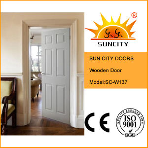 China Factory Solid Wood Interior Entry Door (SC-W137) pictures & photos