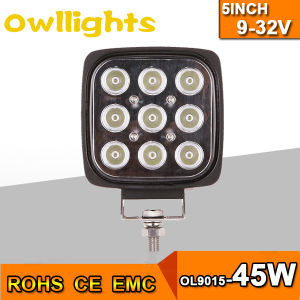"Waterproof IP68 Worklight Square 45W 5"" LED Work Light for Truck"