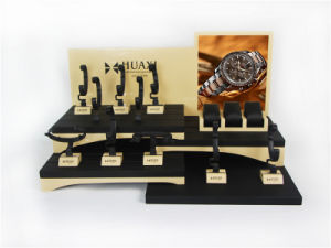 Creative Pop Glossy Wooden Leather Jewelry Watch Display pictures & photos