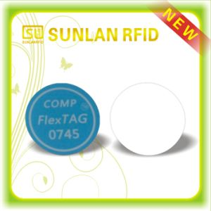 Sunlanrfid 13.56MHz Tag Coin Card ---PVC Round Blank Card Tag pictures & photos