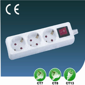 EU Outlet Extension Three Ways Us, Socket with Switch pictures & photos