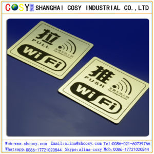 Excellent ABS Double Color Sheet with Sticker for CNC Engraving pictures & photos