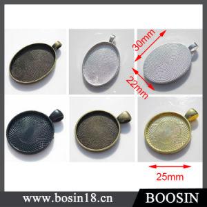 25mm Cabochon Base Settings Antique Bronze Round Cameo Base Pendants pictures & photos