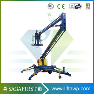 Qingdao Sinofirst Electric Hydraulic Towable Man Lifts for Sale pictures & photos