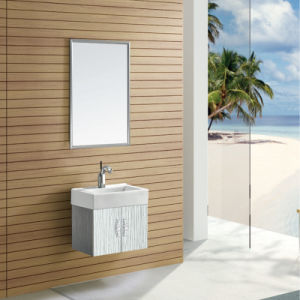 Modern Bathroom Corner Cabinet Stainless Steel Bathroom Cabinet (T-9439) pictures & photos