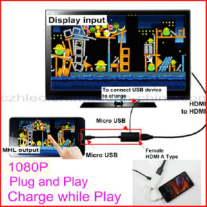 Micro USB 5 Pin to HDMI Adapter for Mobile Phone pictures & photos