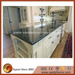 Chinese Polished Absolute Black Granite Countertop for Kitchen pictures & photos