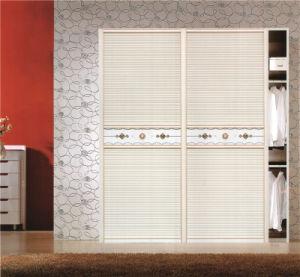 China high quality morden design pvc shutter series for Bedroom wardrobe shutter designs