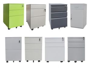 Lockable Steel Mobile Pedestal Security Filing Storage Cabinet with 3 Drawers pictures & photos