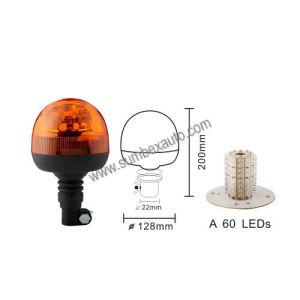 ECE R10 R65 Emark Flexible Amber Strobe Flash Beacon LED Warning Light (SM808AA)